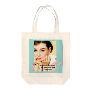 オードリーヘップバーン Tote bags
