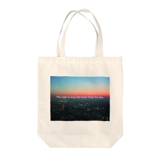 The night is long that never finds the day. Tote bags