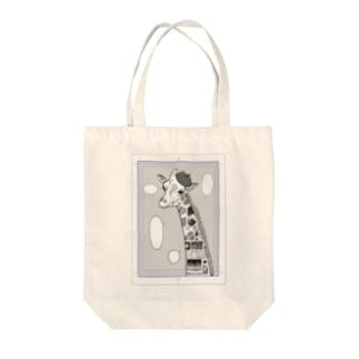 Comic Giraffe Tote bags