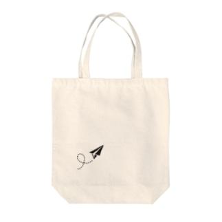 紙ヒコーキ Tote bags