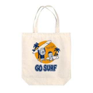 サーフモンモンB Tote bags