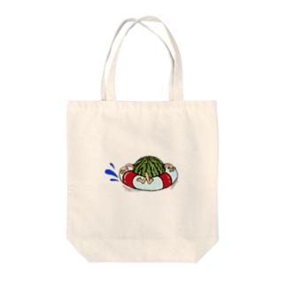 冷やしスイカ Tote bags
