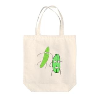 おマメときゅうり Tote bags