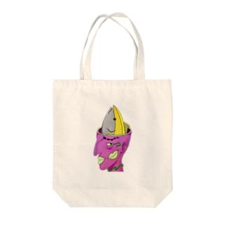 梨子の脳味噌マグロちゃん Tote bags