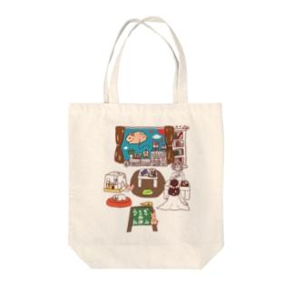 「えほんカフェの日常」【看板あり】ver. Tote bags