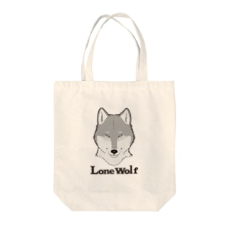 LONE WOLF Tote bags