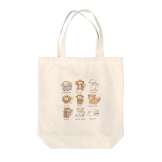 動物いっぱいふわ Tote bags