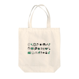 モーニングルーティン Tote bags