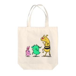 Mamereonのモンスタートリオ Tote bags