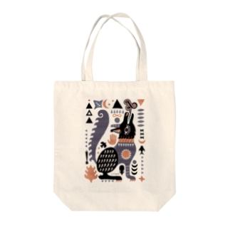 BLACK WOLF Tote bags