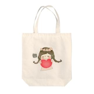 ハートちゃん Tote bags