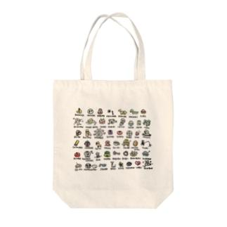 しりとりゆるイラスト Tote bags