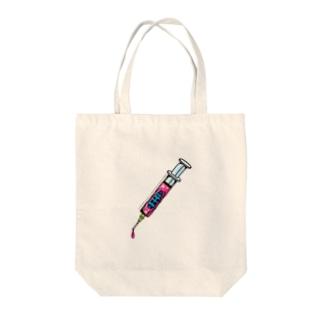 注射器カミキリムシ Tote bags