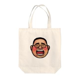 おっちゃん Tote bags