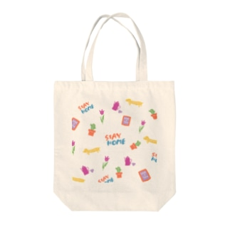 HL.のSTAY HOME柄 Tote bags