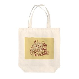 ふむふむMAJINOドーム Tote bags