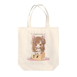ひなぺち Tote bags