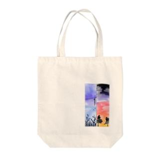 4コマ風景 Tote bags