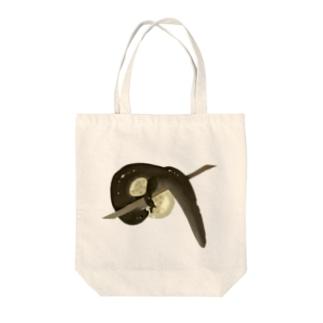 クロサンショウウオのイラスト Tote bags