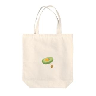アボカドユッケベッド Tote bags