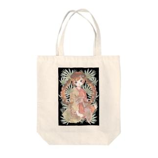 シュロと女の子 Tote bags