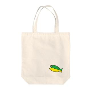 初心者魚トート Tote bags