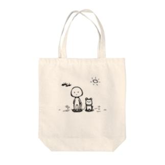 犬のお散歩 Tote bags