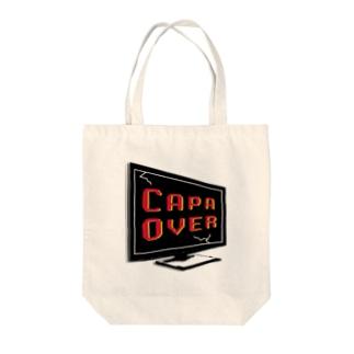 キャパオーバー Tote bags