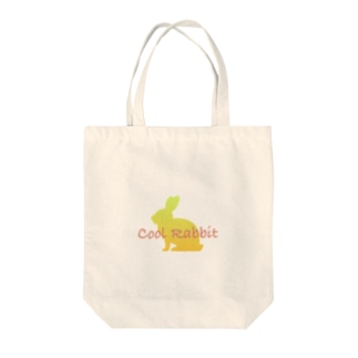 Cool Rabbit B Tote bags