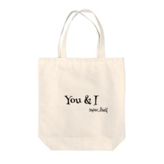 super_itself Tote bags