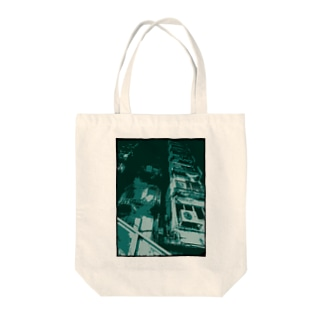 眠る街。(碧/フチ有) Tote bags