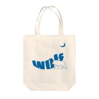 Moonlight Wolf Tote bags