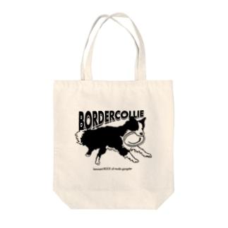 ボーダーコリー フリスビー Tote bags