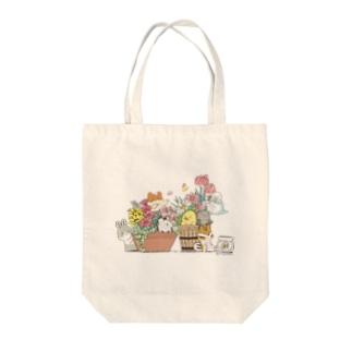 ヒヨハリ!(花鉢) Tote bags
