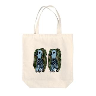 アマビエ2匹カラー Tote bags