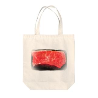 I love 肉 Tote bags