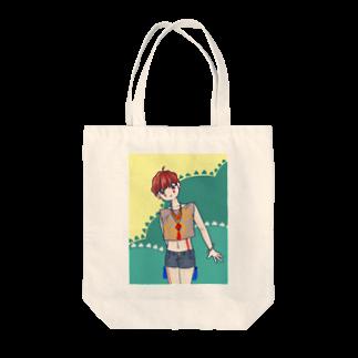 りゅうのすけの女の子〜縄文風 Tote bags