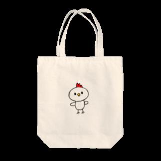 雌鶏商店のかわいいとりの雌鶏 Tote bags