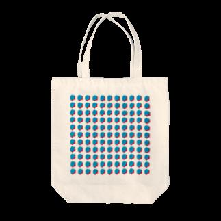 SANKAKU DESIGN STOREの赤青/青赤 ブラシ水玉模様。B Tote bags