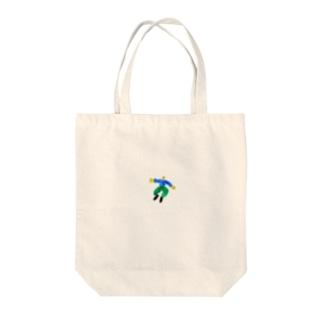 男の子ひゅーん Tote bags