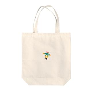 女の子ひゅーん Tote bags