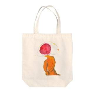 ひとつ目宇宙人バッグ Tote bags