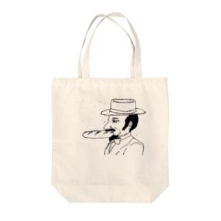 ジェントルぱん Tote bags