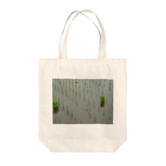 田植え Tote bags