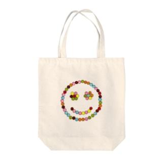 マーブルスマイル Tote bags