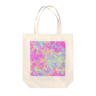 Polka Dots Camouflage(Colorful) Tote bags