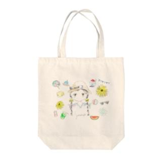 夏の女の子 Tote bags