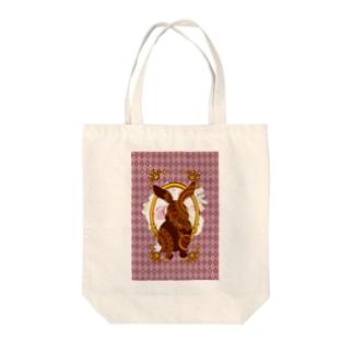 不思議の国のウサギ Tote bags