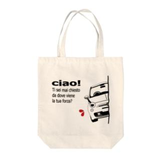 MYヒョッコリチン パッツォビアンコA Tote bags