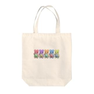 クインテットくまちゃん Tote bags